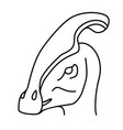 parasaurolophus icon doodle hand drawn or black vector image vector image