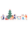 party in orphanage christmas fest orphan vector image vector image