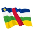 political waving flag of central african republic vector image vector image