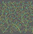 seamless floral heart fabric green tone vector image