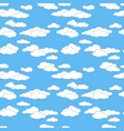 seamless sky pattern with clouds vector image