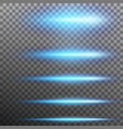 set abstract blue glare effect lights eps 10 vector image vector image