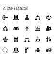 set of 20 editable business icons includes vector image