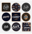 set of 9 coasters for beer vector image