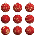 set of christmas new year balls for design use vector image vector image