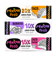 Set of color chalk drawn food spices vector image vector image