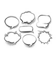 set of comic speech bubbles cartoon vector image vector image