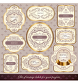 set of elegance labels vector image vector image