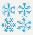 snowflakes collection isolated on background flat vector image vector image