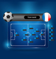 soccer team line up board vector image