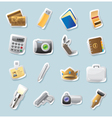 Sticker icons for personal belongings vector image vector image