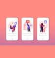 support customers line mobile app page onboard vector image