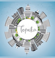 topeka skyline with gray buildings blue sky vector image vector image