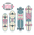 Trendy print on a longboard vector image vector image