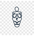 venus of willendorf concept linear icon isolated vector image vector image