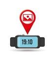 watch picture app social network vector image vector image