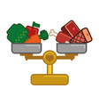 weight calories balance vector image vector image