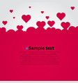 many flying hearts simple design vector image