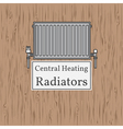 Central Heating Radiators badge Radiator vector image