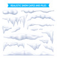 snow capes and piles set vector image