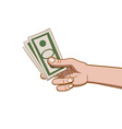 giving money vector image