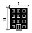 building - architecture project icon vector image
