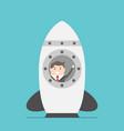 businessman in space rocket vector image