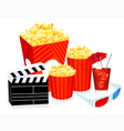 3D cinema objects vector image