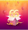 66th years anniversary design element