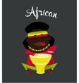 African black or Negro man character Africa vector image vector image