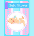 bashower greeting card newborn four or five vector image