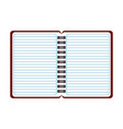 blank notepad open symbol isolated vector image vector image