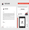 bomb business letterhead calendar 2019 and mobile vector image vector image