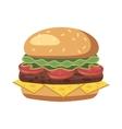 Burger icon cartoon style vector image vector image