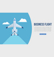 business flight web template vector image vector image