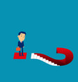 business man and question marks concept vector image vector image