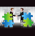 business merger concept vector image vector image