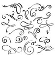 calligraphic swirls element set vector image vector image