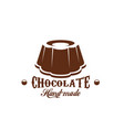chocolate cake patisserie candy shop icon vector image vector image
