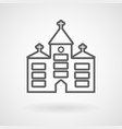 church icon on white background vector image vector image