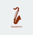 colored saxophone icon silhouette icon vector image