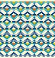 colorful half aztec diamonds pattern vector image vector image