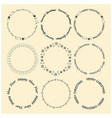 decorative round frames for christmas vector image