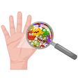 Dirty hand vector image vector image