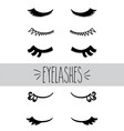 eyelashes hand sketch vector image vector image