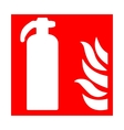 Fire emergency icons vector image