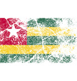 Flag of Togo with old texture vector image