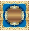 golden border vector image vector image