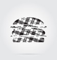 grayscale tartan isolated icon - hamburger vector image vector image