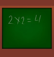 green school chalkboard with frame vector image vector image